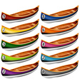 Canoes in different colors vector image