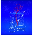 card the image a gift with a ribbon vector image vector image