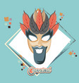 carnival mask vintage icon vector image vector image