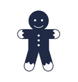 christmas gingerbread man isolated icon vector image
