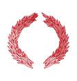 christmas wreath ornament vector image