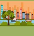 cityscape and river scene vector image