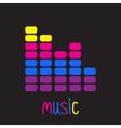 colorful digital equalizer music card vector image