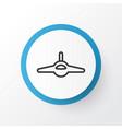combat aircraft icon symbol premium quality vector image