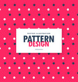 cute red blue and white polka circles pattern vector image vector image