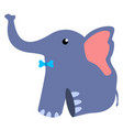 cute stuffed elephant toy vector image vector image