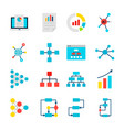 data graph objects vector image vector image