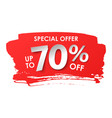 discount 70 percent in paper style vector image
