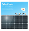 energy concept background with solar panel 1 vector image vector image