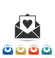 envelope with valentine heart icon isolated vector image vector image