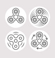 fidget spinner icons set vector image