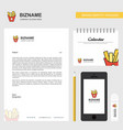 fries business letterhead calendar 2019 and vector image vector image