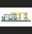 gas filling station vector image