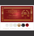 gift certificate retro vintage template 5 vector image