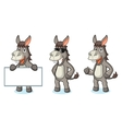 Gray Donkey Mascot happy vector image