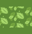 green leaves background tropical seamless pattern vector image