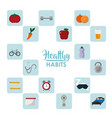 healthy habits lifestyle concept vector image