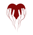 heart in veins hands symbol vector image vector image