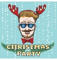 Hipster Christmas Party Design vector image vector image