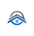 home real estate house construction logo icon sign vector image