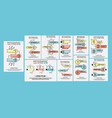infographic collection of three simple style vector image vector image