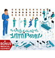 isometrics create your character doctor vector image