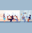 job interview in office occupation recruitment vector image vector image