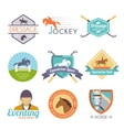 Jockey Label Set vector image