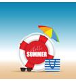 live saver with hallo summer and beach bag