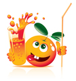 lively orange vector image