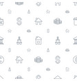 loan icons pattern seamless white background vector image vector image
