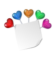 love letter with heart vector image vector image