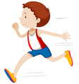 Man running in race vector image vector image