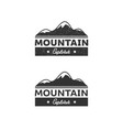 mountain adventure vector image vector image