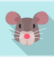 mouse head icon flat style vector image vector image