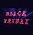 neon black friday sale inscription design vector image