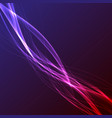 neon glow abstract dynamic speed lines vector image vector image