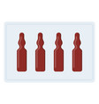 packaged glass ampoules icon flat isolated vector image vector image