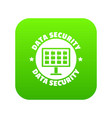 pc data security icon green vector image vector image