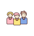 people icon group team vector image
