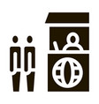 people on check control icon glyph vector image vector image