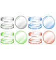 Petri dishes in different colors vector image vector image