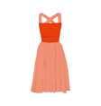 pink cute dress fashion style item vector image vector image