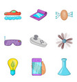 promising technology icons set cartoon style vector image vector image