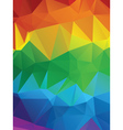 Rainbow Polygonal Background3 vector image vector image