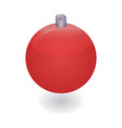 red xmas ball tree icon isometric style vector image vector image