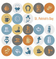saint patricks day icon set vector image vector image