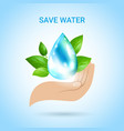 save water background vector image