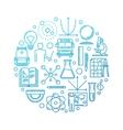 School education blue vector image vector image