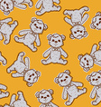 Seamless Baby Background with teddy bear vector image vector image